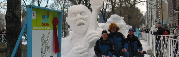 Chicago Blues Snow Sculpture