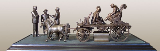 Bronze Circus Wagon Model