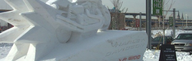 Harley-Davidson Snow Sculpture
