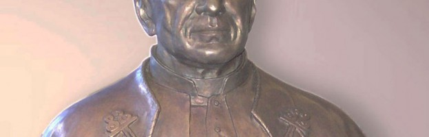 Pope Pius XI Bronze Portrait Sculpture