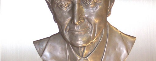 Sheldon Lubar Bronze Relief Portrait Sculpture