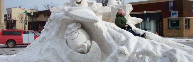 M & M Snow Sculpture Slide
